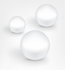 White pearl balls.