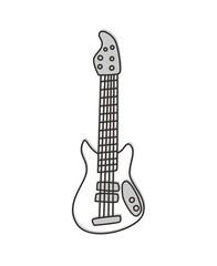 bass guitar outline illustration