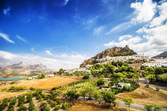 Zahara de la Sierra, town located in Cadiz, Andalusia, Spain.