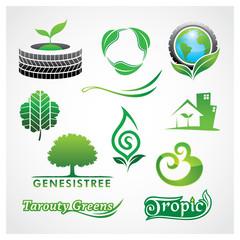 Vector Greens Symbol Green symbol logo design template.