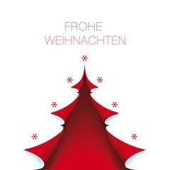 helle Weihnachtskarte roter baum mit Frohe Weihnachten