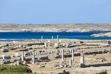 The island of Delos,Greece