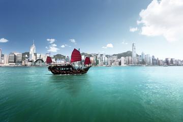 Fotomurales - Hong Kong harbour