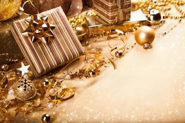 Wall Mural - Christmas gifts and decorations