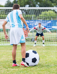 Penalty Kick with Big Funny Ball