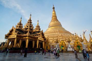 Famous Shwedagon Paya in Yangon, Myanmar