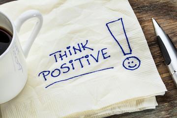 Obraz think positive on a napkin - fototapety do salonu