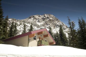 Private Lodging Ski Chalet Lodge Heavy Snow North Cascade Range
