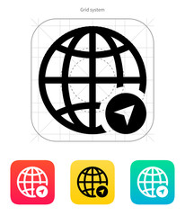Globe Navigation icon. Vector illustration.