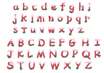 Christmas alphabet a-z/A-Z