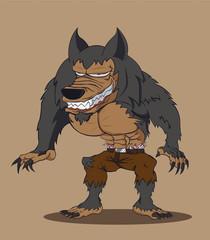 werewolf. Vector illustration