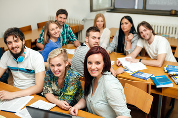 students on class