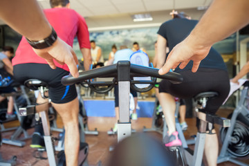 spinning class at gym