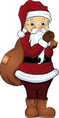 Santa Claus Weihnachtsmann Geschenkesack