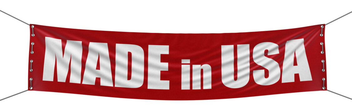 """""""Made in USA"""" banner  (clipping path included)"""