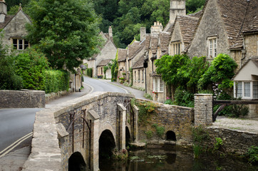 Castle Combe, Cotswolds village Wall mural