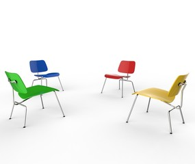Four Color Chairs