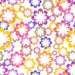 Multicolor flower bright seamless background