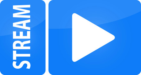 Stream Live TV Broadcast Internet Play Icon Buttom Knopf
