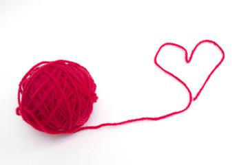 Red wool heart