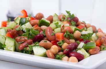 mixed beans healthy salad