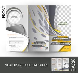 Horse Riding Tri-Fold Mock up & Brochure Design