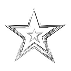 Abstract Stylish Sketch Stars design Vector
