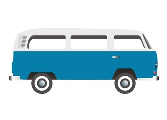 old bus oldtimer retro van vector illustration