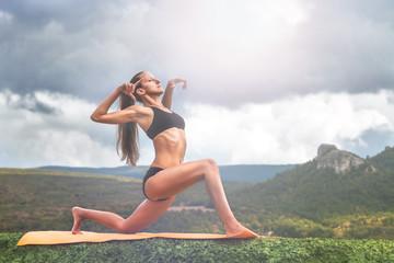 Yoga practice outdoor