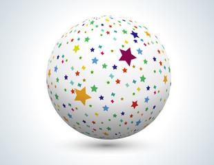 ballon étoiles