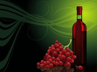 Red vine. Vector template