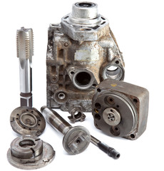 the part of car high pressure pump  and the tool for repair..