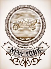 Vector. Old Car design