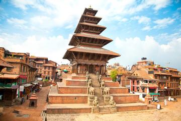 Wall Murals Nepal Nyatapola Pagoda on Taumadhi Square in Bhaktapur, Kathmandu, Nep