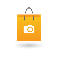 Shopping bag with icon