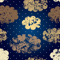 Grunge night sky