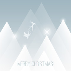 Merry Christmas Card - Vector Background Illustration