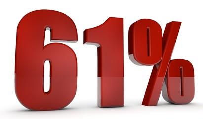 percent,61
