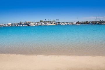 Newport Bay California Balboa Peninsula and Lido Island
