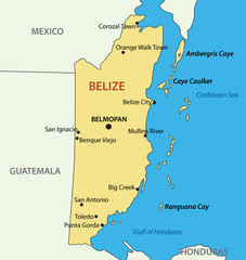 Belize - vector map