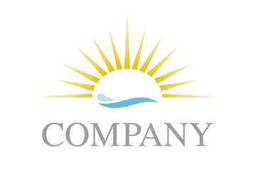 Sun and waves company logo