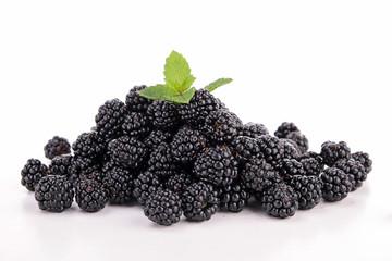 isolated blackberries