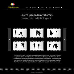 modern personal photo web site template