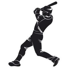 ballplayer, silhouette