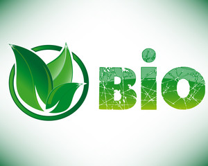 Bio leaf with circle