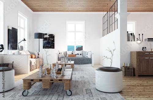 Scandinavian style living room wohnzimmer im schweden for Schweden style einrichtung