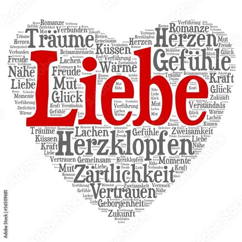 Wordcloud - Liebe in Herzform\
