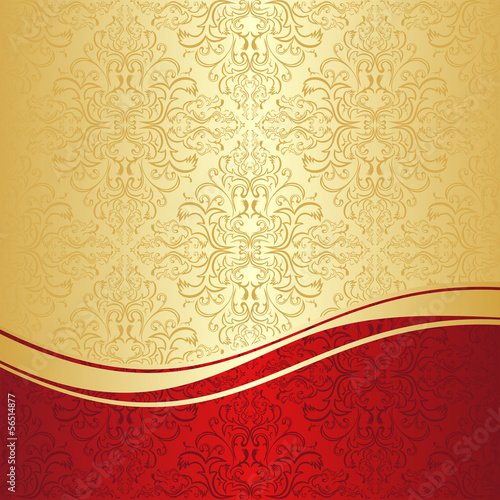 """Luxury ornamental Background: gold and red."" Stock image ..."