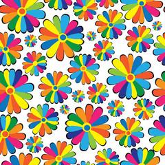 .seamless pattern multicolor chamomile