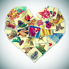 heart-shaped christmas pictures collage